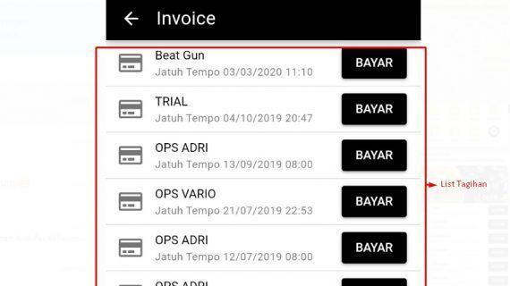 cara invoice dengan gopay