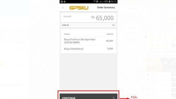 payment aplikasi gpsku dengan gopay