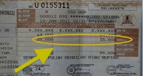 cara bayar denda pajak bermotor