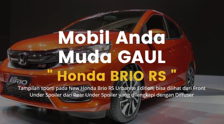 Honda Luncurkan Edisi Untuk Anak Muda Yang Gaul Brio RS Urbanite 2021