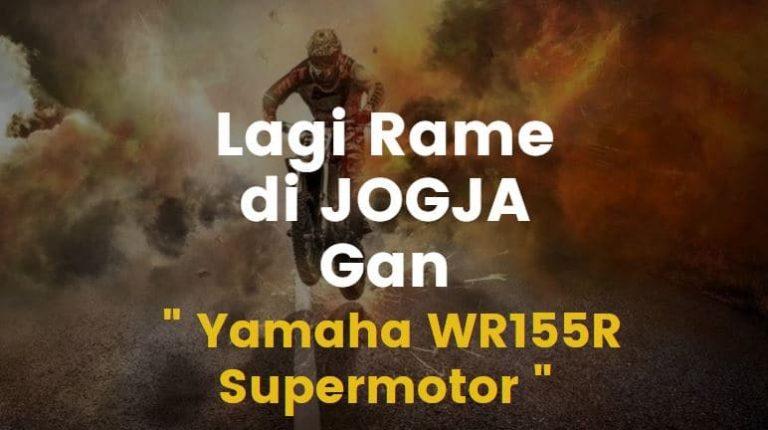 jogja dipadati pengendara yamaha wr 155 rr supermotor