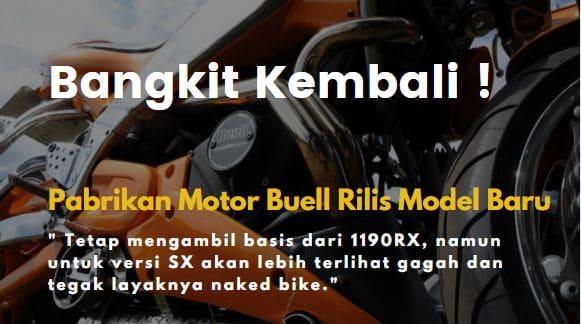 pabrikan motor buell rilis model terbaru