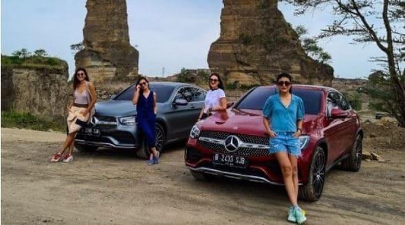 4 Gadis Petualang Bareng Luna Maya Jajal Mercedes-Benz GLC 300 4MATIC Coupé